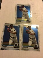 2020 Bowman Chrome Jazz Chisholm (3x) Card Lot (3 Chrome) Miami Marlins