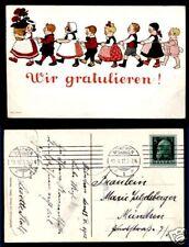 AK-Ottmar Zieher--Helicolorkarte--1913 -Wir Gratulieren