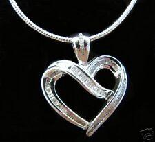 .50 CT GENUINE DIAMOND ROUND BAGUETTE HEART PENDANT NEW