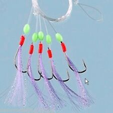 Sea Fishing Lures Cod Feathers 5//0 Hooks Small Joblot 5 pkts only 6.99