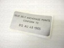 VW MK1 Golf Seat Belt BS AU Sticker (T25, Beetle)