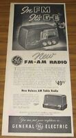 1950 Vintage Ad GE General Electric FM-AM Radio & AM Table Radio