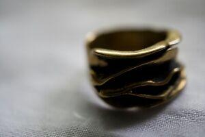 Vintage Brutalist Brass Mid Century Modernist  Size 4 3/4''