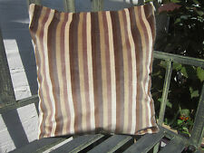 Contemporary cushion cover heavy fabric soft velvet stripes 16 inch square