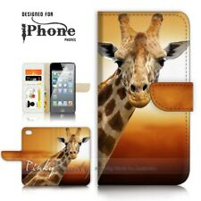 ( For iPhone 5 / 5S ) Wallet Case Cover P21132 Giraffe