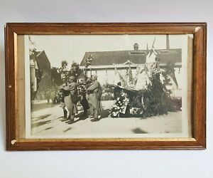 Authentique Photo d'une Commémoration Soldats Français de 14-18 Pieux Souvenir