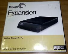 500 GB Seagate Expansion External Drive ST305004EXD101-RK USB 2.0 plug and play