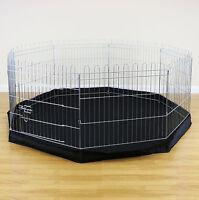 8 Sided Pet Playpen Cage & Mat Indoor/Outdoor Garden Run Dog/Puppy/Rabbit/Guinea