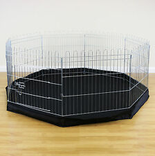 8 Sided Pet Playpen Cage & Mat Indoor/Outdoor Garden Run Dog/Puppy/Rabbit/Guinea
