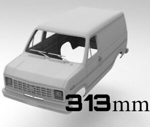 STL files for 3d print RC body Ford Van 313mm Axial
