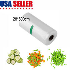 New listing Universal 28*500cm Vacuum Sealer Rolls Bags Storage Bags Food Saver Clear Us