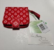 Vera Bradley Nantucket Red Mini Zip Wallet NWT