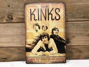 """The Kinks Fillmore East NYC Bill Graham Repro  Metal sign 8""""X12"""" Man-Cave Décor"""