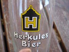 Vintage Herkules Bier beer drinking glass
