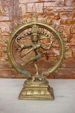 Antique Bronze Carved Hindu Lord Shiva Nataraja Lord Of Dance Figure Statue no.2