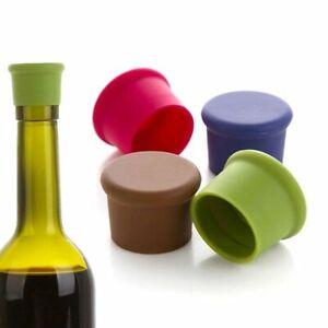 Kitchen Silicone Wine Bottle Cap Leak-proof Wine Bottle Stopper Soda Red- Wine