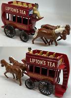 Matchbox Lesney Models of Yesteryear Y12 Horse Drawn Bus Lipton's Tea - VNM