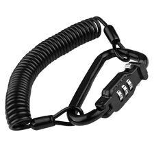 Motorcycle Universal Helmet Lock Cable Helmet Combination Lock With T-Bar Rubber