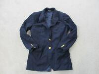VINTAGE Ralph Lauren Polo Jacket Mens 36 Blue Wool Gold Buttons Blazer Coat