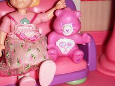 Care Bears Share Bear Children's Play Room for Loving Family Dollhouse Dolls