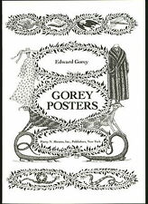 1979 EDWARD GOREY PRINT Posters Harry N Abrams New York Skeleton Skulls Lizard