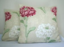 A NEW  LARGE PAIR OF LAURA ASHLEY RUSKIN, RASPBERRY CUSHION COVERS - ZIPPED