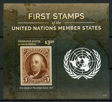 Micronesia 2015 MNH First Stamps UN United Nations Member States USA 1v S/S