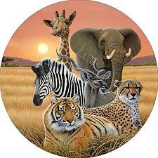 Safari Elephant Cheetah Tiger Zebra Giraffe Spare Tire Cover Jeep Rv (all sizes)
