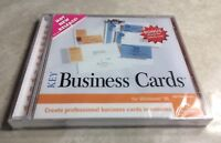 Key Business Cards CD-ROM (Create Professional Business Cards) NEW / Sealed 1998