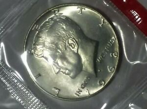 1968-D Kennedy 40% Silver Half dollar In cello! MS++ Uncirculated *616
