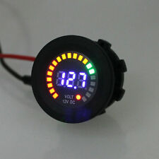 Car Motorcycle Waterproof LED Digital Panel Display Blue Voltmeter Voltage Volt