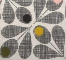 FQ 50cm Square Orla Kiely Acorn Cup Scribble Slate Grey Lightweight Fabric NEW