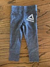 Reebok Active Leggings Size 4 Gray Space Dye Girls