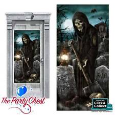 CEMETERY REAPER HALLOWEEN DOOR COVER Horror Poster Decoration Party Prop 241155