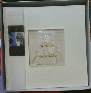 """Wedding album """"cake"""" dry mount large photo picture 20 pages RRP $44.95 handmade."""