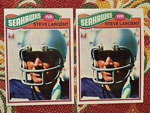 2-1977 Topps STEVE LARGENT Rookie RC Seahawks #177 NICE CONDITION L@@K!!!