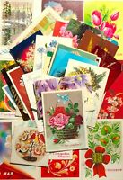 1960-80s Postcards Mixed Lot Vintage Greeting Cards Flowers Lot 49 pcs