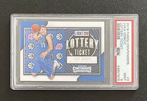 2018 Luka Doncic Panini Contenders Lottery Ticket RC #3 PSA 9