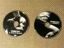 2 - P90X DVDs #10 Back and Biceps and #11 Cardio X! FREE SHIPPING!!!