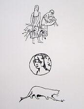 """PIERRE BONNARD Original Vintage 1930 Woodcut from """"Sainte Monique"""""""