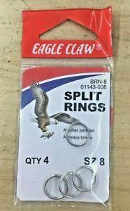 Eagle Claw SRN-8 Split Rings QTY 4 Size 8 01143-008