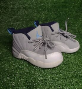 Nike Air Jordan 12 Retro University Blue Toddler 7C White Grey Blue 2016