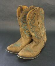 Danpost boot company chlldren kids sz 5.5 dpc 3144 metal studs brown w/ green