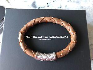 Porsche Design Bracelet NEXUS Coffee Orange braided leather 19 cm*NEW*