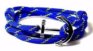 Nautical Anchor Bracelet Illusion Paracord Vintage Adjustable Hand Made USA