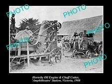OLD LARGE HISTORIC PHOTO OF AMPHITHEATRE VICTORIA, HORNSBY ENGINE OIL c1908