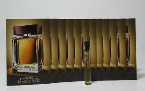 Dolce & GabannaTHE ONE for men EDT splash 1.5 ml - 0.05 fl oz lot of 12 vials