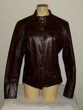 Mint Vtg Womens The Leather Ranch brown snap-button leather jacket Small Medium