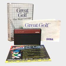 Great Golf for Sega Master System PAL GAME