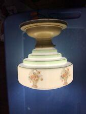 Vintage Art Deco Ceiling Light Fixture Glass 4 Tier Design Re-wired